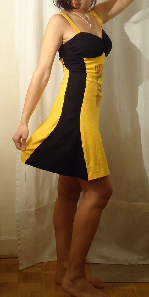 Two Color Tee Dress Tutorial