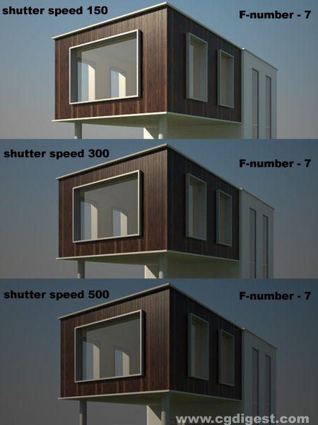 Vray Camera Shutter Speed Vray Tutorials Lighting Design