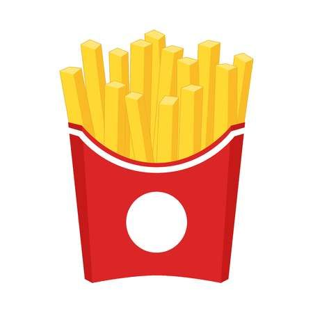 French Fries Cartoon Clipart French Fries In A Red Carton Paper Cartoon Clip Art Clip Art Red Paper