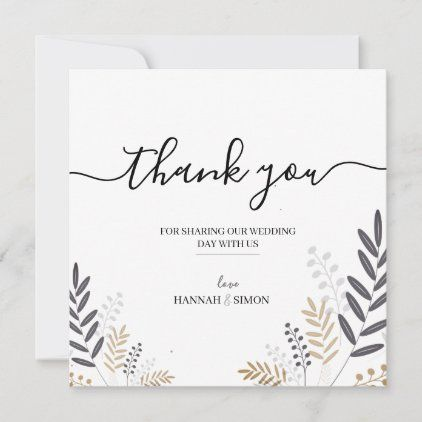 Simple Floral And Elegant Thank You Card Zazzle Com Thank You Cards Pretty Wallpaper Iphone Your Cards