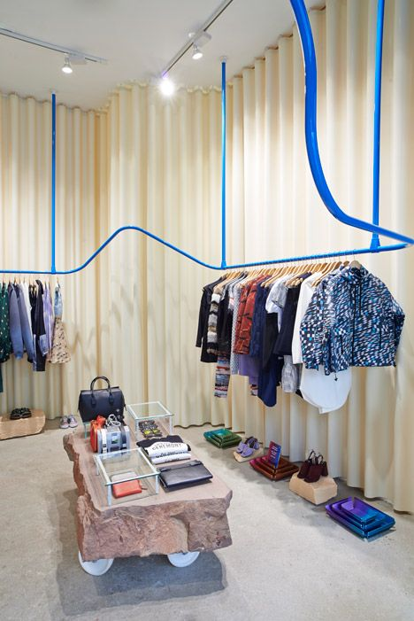 Max Lamb surrounds Opening Ceremony boutique with latex curtains