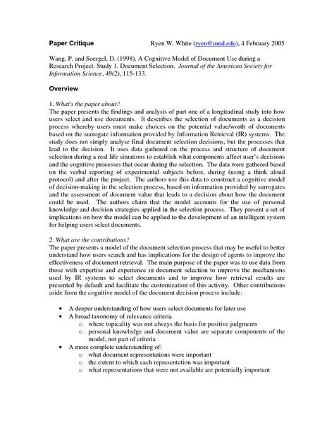 Examples Of Nursing Research Critique Paper Research Paper Nursing Research Essay Writing Tips