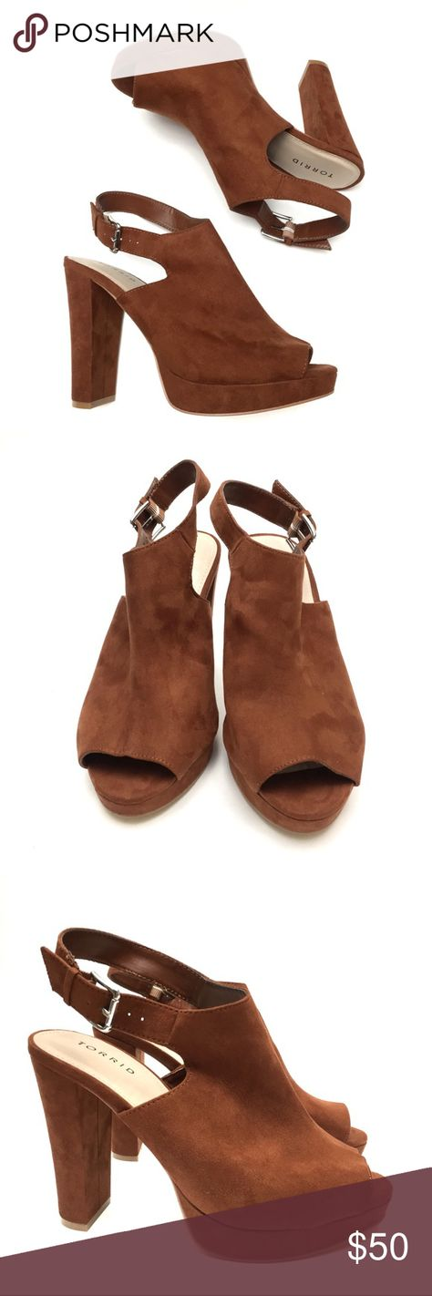 c2b2e29a86d Torrid Rust Peep Toe Ankle Booties 70s Style Torrid Womens Rust Brown Faux  Suede Peep Toe