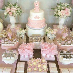 Como Hacer Una Mesa De Dulces Para Baby Shower Economica Ideas Para Las Fiestas Infantiles Par Baby Shower Dessert Table Baby Shower Bbq Pink Dessert Tables