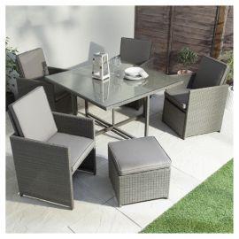Marrakech 4 Piece Rattan Garden Furniture Set | Garden Ideas | Pinterest | Garden  Furniture Sets, Furniture Sets And Garden Furniture