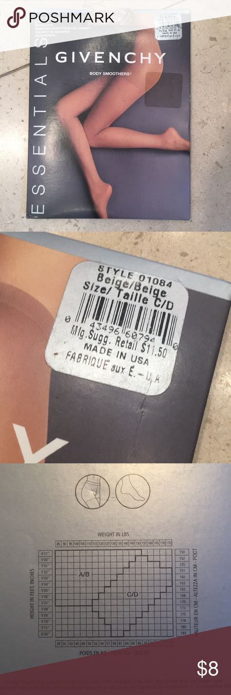 NEW Givenchy control top pantyhose (size C/D) New, never opened Beige sheer pantyhose with light support legs and control top Givenchy Intimates & Sleepwear Shapewear