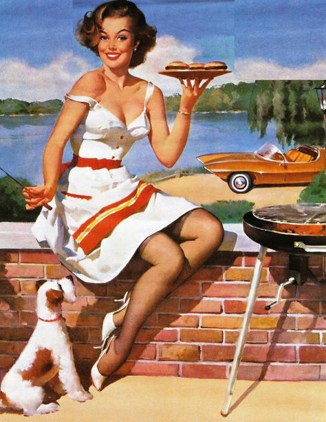Pin Up Girls Vintage © Gil Elvgren Pin Up Vintage, Pin Up Retro, Vintage Girls, Retro Vintage, Retro Girls, Gil Elvgren, Estilo Pin Up, Pin Up Illustration, Illustrations