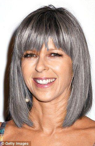 Image Result For Kate Garraway Grey Hair Silver Hair Silver Grey Hair Dye Silver Grey Hair