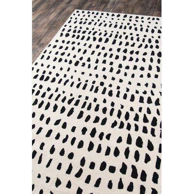Polka Dots Handmade Tufted Wool Ivory Black Area Rug Joss Main Area Rug Decor Area Rugs Black Area Rugs