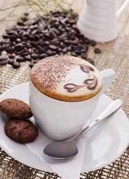 art, coffee, and breakfast image