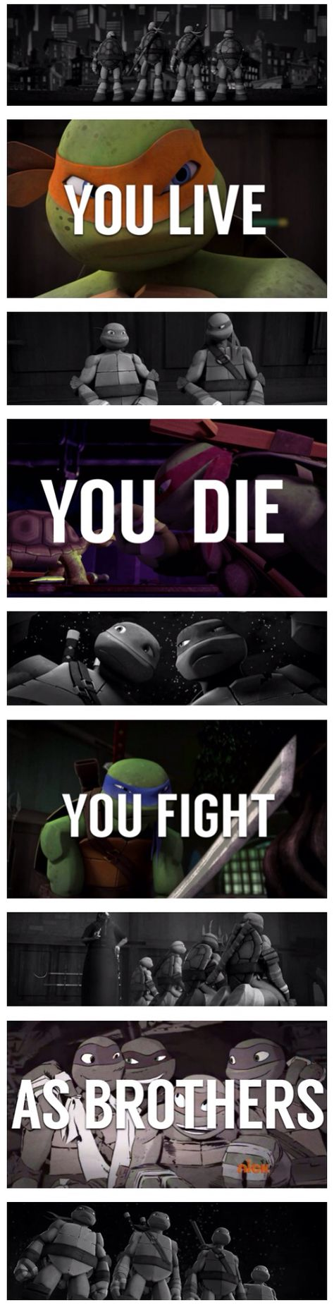 An edit made by me ! #TMNT 2012 + 2014 quote :)