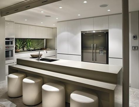Beautiful Neutral Kitchen Love The Split Level Island Bench Top