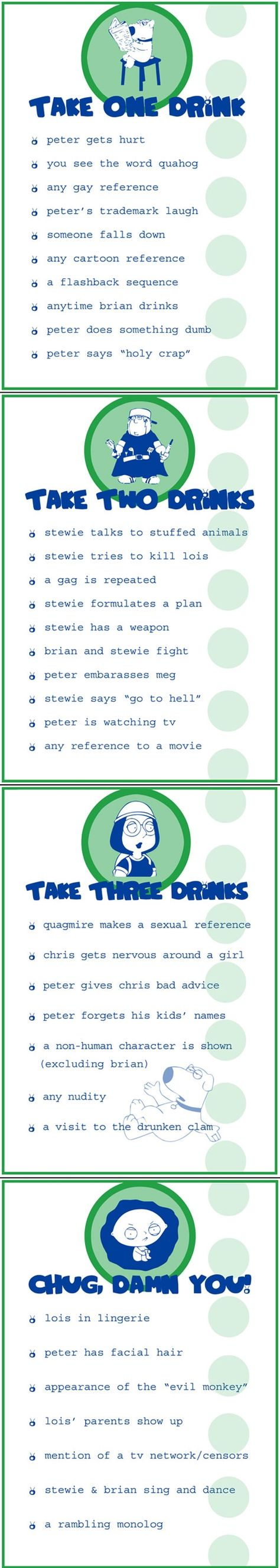 FAMILY GUY drinking game!