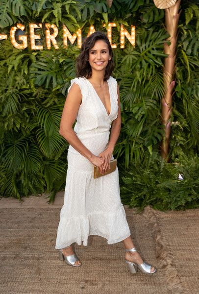 Nina Dobrev arrives to the 2nd Annual Maison St-Germain event at Little Beach House on July 10, 2018 in Malibu, California.