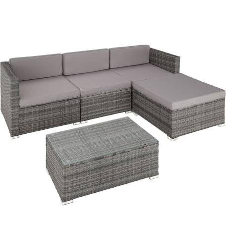 Rattan Lounge Florenz Schwarz Sitzgruppe Gartensofa Und