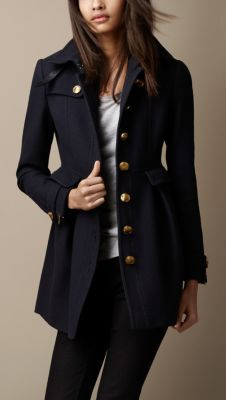 Fitted Military Coat: love it!