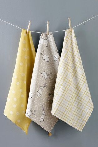 Set Of 3 Tea Towels Tea Towels