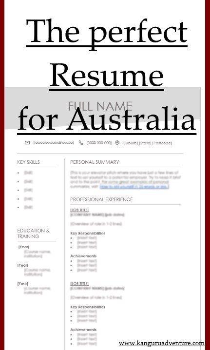 Write A Great Resume For Australia Resume Australia Australia