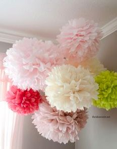 Tissue paper pom pom size chart this is an awesome chart for this would be zoo cute in a teens room or a new babes room so adorable tissue paper pom poms diytissue paper decorationswedding solutioingenieria Images