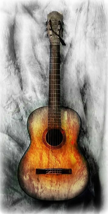 old guitar - my artwork for sale