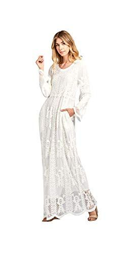 6f52b436aeee New Jen Clothing Hope LDS Temple Dress in White Lace online. [$88.99] from  top store yourfavoriteclothing
