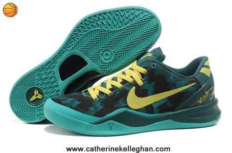 a55b973c3ed 555035-022 Dark Green Yellow Nike Zoom Kobe 8 (VIII) Discount