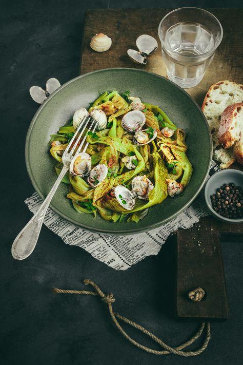 Petite recette entre terre et mer, rapide, simple et délicieuse en guise de repas ! #simplerecipe #poireaux