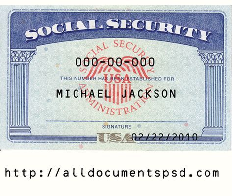Social Security Card Template Psd Only 25 Card Templates Free Social Security Card Cards