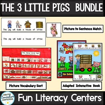 The Three Little Pigs Bundle Prek 2 Sped Ell Activities Are