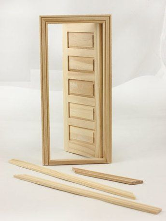 Miniature for Dollhouse Internal 5 panel wood door