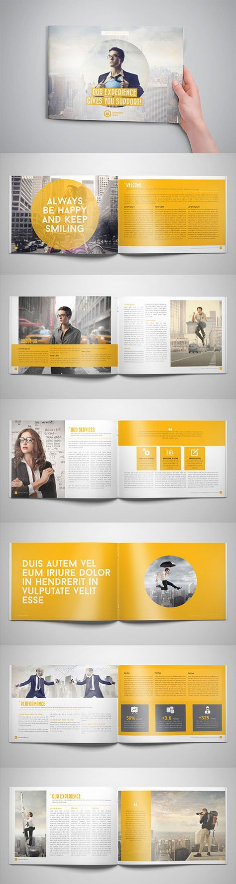 Business Horizontal Brochure | LAYOUT | Brochure | Pinterest ...