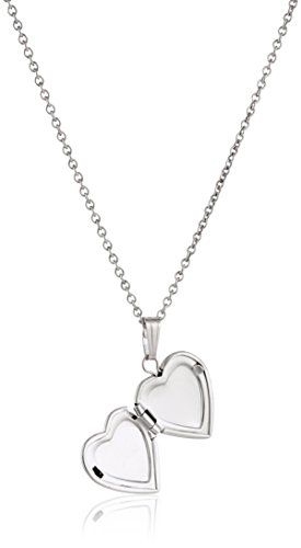 Sterling Silver Youth Heart 15 Necklace for Women