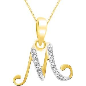 alphabet pendants in gold, m alphabet locket design, gold