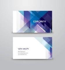 Tarjeta de negocios con tringulos azules vector gratis hola 063 blue abstract business card vector template reheart Images