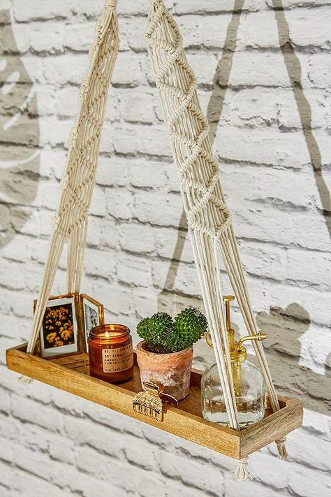 Double Macrame Shelf | Urban Outfitters UK