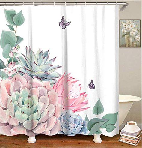 Amazon Com Livilan Fabric Shower Curtain Set With 12 Hooks