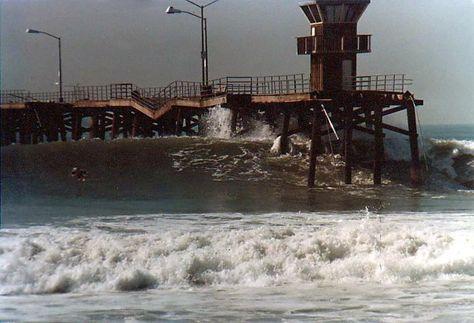Seal Beach Pier Beaten And Broken 1983 Seal Beach California Seal Beach Seal Beach Pier