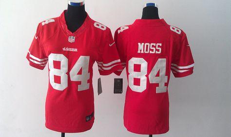 best website 5f5f1 9a8f8 Women's Nike NFL San Francisco49ers #84 Randy Moss Red Team ...