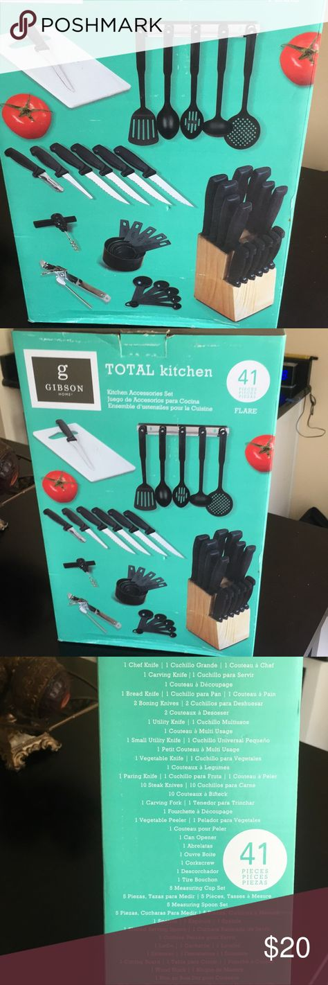 Nwt Total Kitchen Set Gibson Home In 2020 Gibson Home Kitchen Sets Gibson