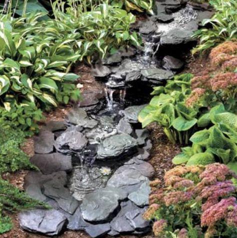 gambar model air mancur kolam halaman rumah minimalis 10
