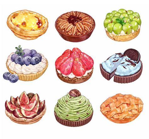 230 Watercolor Desserts Ideas Watercolor Food Food Drawing Food Illustrations