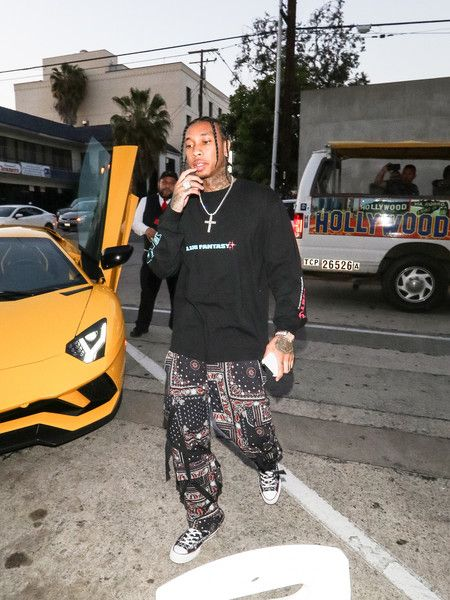 Tyga Photos - Tyga is seen in Los Angeles, California. - Tyga Outside Craig's Restaurant In West Hollywood