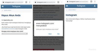 Cara Menghapus Akun Instagram Permanen Lewat HP | Instagram ...