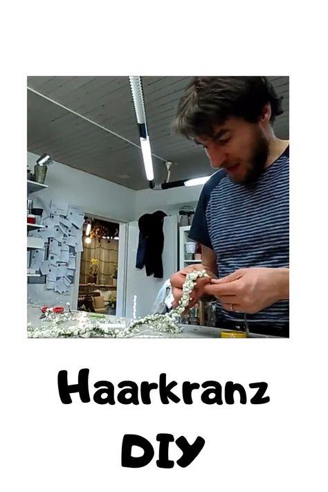 Haarkranz DIY. Hochzeitshaarkranz selber machen. #haarkranz #diy #selber #machen