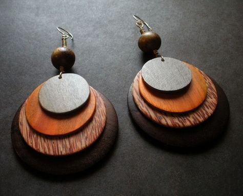 10Pcs DIY wood earring drop,African Queen earring,African Girl Jewelry supply,round wooden earring pendant,Ethnic Jewelry 60mm--VC233#
