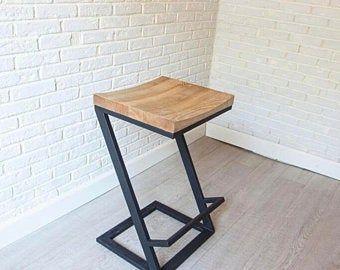 Height 13 40in 33 99cm Wood Metal Stool Etsy In 2020 Metal Stool Wood Metal Stool Stool