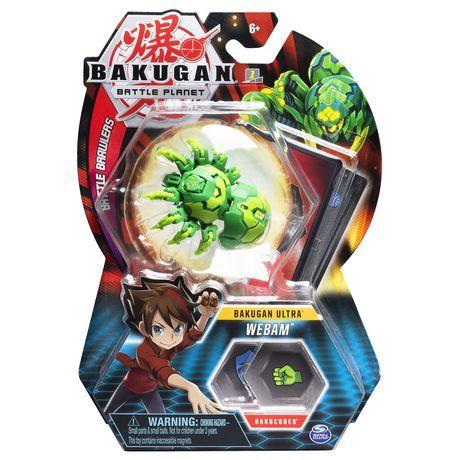 Bakugan Ultra Webam 3 Inch Tall Collectible Transforming