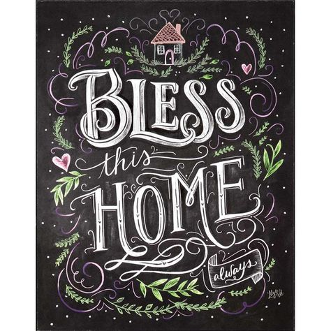 'Bless This Home Always' Textual Art