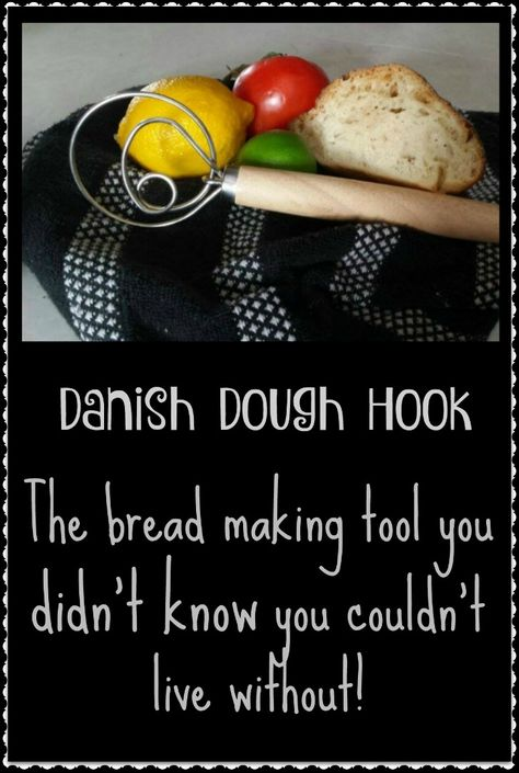 Seriously, I totally underestimated how necessary this Danish Dough Hook is for making bread (and pretty much anything else you need to mix batter wise) Don't make the same mistake...