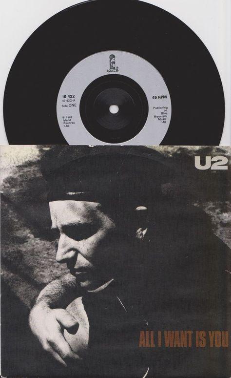 U2 All I Want Is You 1988 French Original 7 45 Vinyl Record Bono